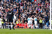 9th December 2017, Santiago Bernabeu, Madrid, Spain; La Liga football, Real Madrid versus Sevilla; Jose I Fernandez Iglesias of Real Madrid celebrates the (1,0) after scoring his sides goal