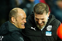 25th February 2020; The Hawthorns, West Bromwich, West Midlands, England; English Championship Football, West Bromwich Albion versus Preston North End; Preston North End Manager Alex Neil jokes with West Bromwich Albion Manager Slaven Bilic before kick off