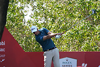 Nicolas Colsaerts (BEL) on the 8th tee during the Pro-Am of the Abu Dhabi HSBC Championship 2020 at the Abu Dhabi Golf Club, Abu Dhabi, United Arab Emirates. 15/01/2020<br /> Picture: Golffile | Thos Caffrey<br /> <br /> <br /> All photo usage must carry mandatory copyright credit (© Golffile | Thos Caffrey)