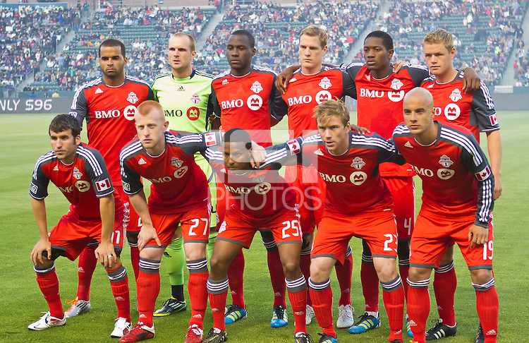 CARSON, CA – June 11, 2011: Toronto FC starting line-up for the match between LA Galaxy and Toronto FC at the Home Depot Center in Carson, California. Final score LA Galaxy 2, Toronto FC 2.