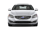 Car photography straight front view of a 2018 Volvo V60 T5 5 Door Wagon Front View
