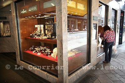 Genève, le 22.07.2009.Les rues basses,.© Le Courrier / J.-P. Di Silvestro