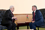 Palestinian President Mahmoud Abbas meets with Jordanian King Abdullah II in New York City, U.S. on September 19, 2017. Photo by Osama Falah