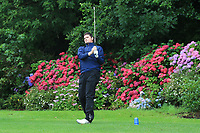 TJ Ford (Co.Sligo) on the 9th tee during the Final of the Barton Shield in the AIG Cups & Shields Connacht Finals 2019 in Westport Golf Club, Westport, Co. Mayo on Saturday 10th August 2019.<br /> <br /> Picture:  Thos Caffrey / www.golffile.ie<br /> <br /> All photos usage must carry mandatory copyright credit (© Golffile | Thos Caffrey)