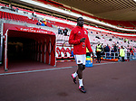 Clayton Donaldson of Sheffield Utd walks out for warm up during the Championship match at the Stadium of Light, Sunderland. Picture date 9th September 2017. Picture credit should read: Simon Bellis/Sportimage