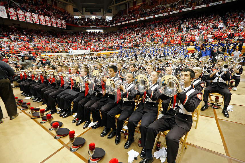 Ohio State Buckeyes Marching Band play at Skull Session at St. John Arena before the start of their game against Michigan Wolverines at Ohio Stadium in Columbus, Ohio on November 29, 2014.  (Dispatch photo by Kyle Robertson)