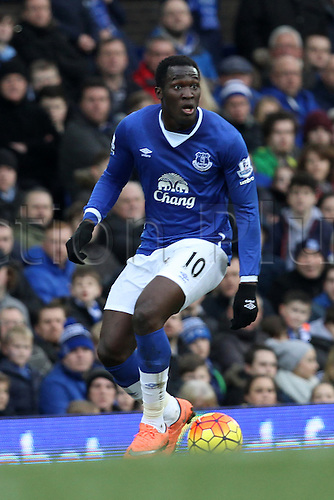 05.03.2016. Goodison Park, Liverpool, England. Barclays Premier League. Everton versus West Ham. Romelu Lukaku of Everton in action during the first half.