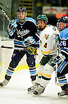 29 January 2010: University of Vermont Catamount defenseman Patrick Cullity, a Senior from Tewsbury, MA, in action during the first period against the University of Maine Black Bears at Gutterson Fieldhouse in Burlington, Vermont. The Black Bears defeated the Catamounts 6-3 in the first game of their America East weekend series. Mandatory Credit: Ed Wolfstein Photo