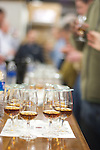 At a single barrel tasting at the Four Roses distillery in Lawrenceburg, Ky., participants tasted samples from 10 barrels. The owners of Bourbon Bistro in Louisville, Ky., purchased a barrel for the Four Roses Single Barrel Private Selection.