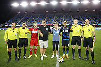 San Jose, CA - Wednesday September 27, 2017: Dax McCarty, Chris Wondolowski, Drew Fischer, Peter Balciunas, Eduardo Mariscal, Alex Chilowicz during a Major League Soccer (MLS) match between the San Jose Earthquakes and the Chicago Fire at Avaya Stadium.