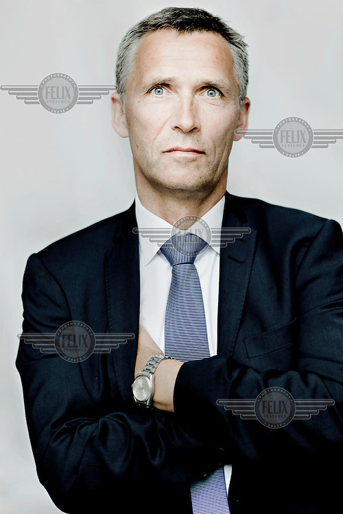 The Norwegian Prime Minister Jens Stoltenberg in his office in central Oslo.