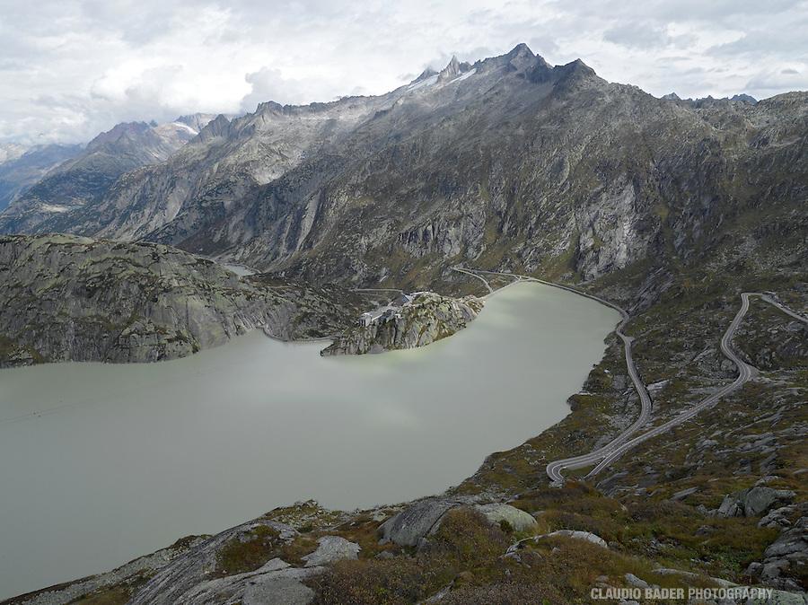 DAMSCAPES, Switzerland, Grimsel, Grimselpass, Dam, Reservoir, Kanton Bern, Kanton Valais, Grimselstrom, KWO Kraftwerke