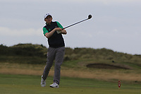 Ronan Mullarney from Ireland at the 18th tee during Round 2 Singles of the Men's Home Internationals 2018 at Conwy Golf Club, Conwy, Wales on Thursday 13th September 2018.<br /> Picture: Thos Caffrey / Golffile<br /> <br /> All photo usage must carry mandatory copyright credit (&copy; Golffile   Thos Caffrey)