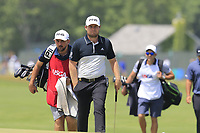 Tyrrell Hatton (ENG) on the 8th green during Saturday's Round 3 of the 118th U.S. Open Championship 2018, held at Shinnecock Hills Club, Southampton, New Jersey, USA. 16th June 2018.<br /> Picture: Eoin Clarke | Golffile<br /> <br /> <br /> All photos usage must carry mandatory copyright credit (&copy; Golffile | Eoin Clarke)
