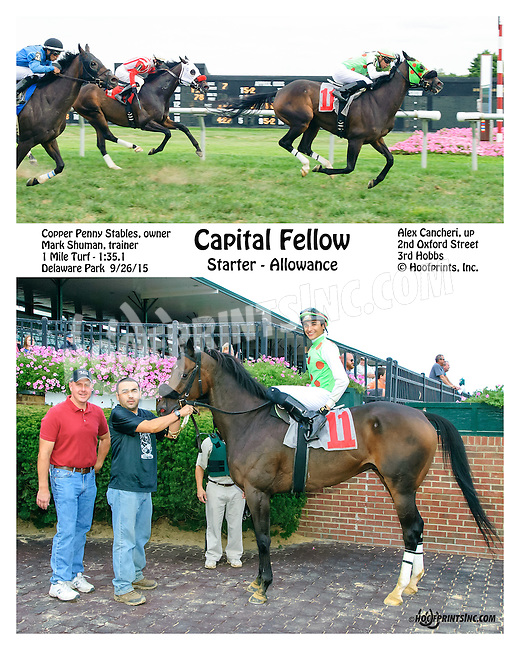 Capital Fellow winning at Delaware Park on 9/26/15