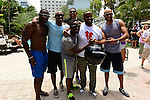 MIAMI BEACH, FL - JUNE 21: Terry Kirby, Jay Williams, Omar Benson Miller, DJ Irie, Kenny Hamilton and Stephen Bishop attend  DJ Irie Weekend-IWX - BBQ Beach Bash Pool Party at National Hotel on Saturday June 21, 2014 in Miami Beach, Florida. (Photo by Johnny Louis/jlnphotography.com)