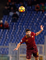 Calcio, Serie A: Roma vs Fiorentina. Roma, stadio Olimpico, 7 febbraio 2017.<br /> Roma's Federico Fazio heads the ball during the Italian Serie A soccer match between Roma and Fiorentina at Rome's Olympic stadium, 7 February 2017.<br /> UPDATE IMAGES PRESS/Riccardo De Luca