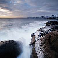 Rocky coastline, Lofoten Islands, Norway