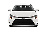 Car photography straight front view of a 2020 Toyota Corolla LE 4 Door Sedan Front View