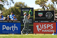 Thorbjorn Olesen (DEN) in action on the 10th during Round 1 of the ISPS Handa World Super 6 Perth at Lake Karrinyup Country Club on the Thursday 8th February 2018.<br /> Picture:  Thos Caffrey / www.golffile.ie<br /> <br /> All photo usage must carry mandatory copyright credit (&copy; Golffile | Thos Caffrey)