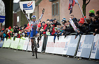 elite women's race winner Katerina Nash (CZE/Luna)<br /> <br /> Azencross Loenhout 2014