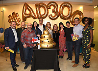 "LOS ANGELES - MAY 21: (L-R) Howard Kurtzman, 20th Century Fox TV/President, Business Operations, Dee Bradley Baker,Matt Weitzman, EP/Co-Creator/Showrunner<br /> Kara Vallow, Producer, Brian Boyle, EP/Showrunner, Wendy Schaal, Marci Proietto, 20th Century Fox TV/EVP, Animation, Rachael MacFarlane, Jeff Fischer, Jonnie Davis, 20th Century Fox TV/President, Creative Affairs, Olivia Morris, Director, Original Programming TBS Development attend the 300th episode table ready and cake cutting celebration for 20th Century Fox Television's ""American Dad"" on May 21, 2019 in Los Angeles, California. (Photo by Frank Micelotta/20th Century Fox Television/PictureGroup)"