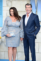 "Pierce Brosnan and wife Keeley<br /> arriving for the ""Mama Mia! Here We Go Again"" World premiere at the Eventim Apollo, Hammersmith, London<br /> <br /> ©Ash Knotek  D3415  16/07/2018"
