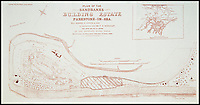 BNPS.co.uk (01202 558833)<br /> Pic: BNPS<br /> <br /> Poster advertising the sale of land on Sandbanks, for a pittance in 1896.<br /> <br /> &pound;100 million pound row...<br /> <br /> Lucky 13 - This tiny 850 ft stretch of seafront on the exclusive Sandbanks peninsular in Dorset is now thought to be the most expensive seaside real estate in the world.<br /> <br /> The 850ft long stretch of Panorama Road that boasts uninterupted views to the south west contains only 13 harbourside mansions that total a staggering &pound;92.7m in value.<br /> <br /> There is also almost total privacy from the road out front while back gardens run down to the water's edge.<br /> <br /> But the plots are relatively narrow, ranging between 40ft and 60ft wide, making it the most expensive piece of coastline in the world in term of price per square foot.