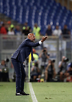 Calcio, Serie A: Roma, stadio Olimpico, 26 agosto, 2017.<br /> Inter's coach Luciano Spalletti speaks to his players during the Italian Serie A football match between Roma and Inter at Rome's Olympic stadium, August 26, 2017.<br /> UPDATE IMAGES PRESS/Isabella Bonotto