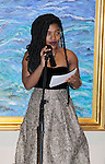 Sade Skakur - Color of Beauty Awards hosted by VH1's Gossip Table's Delaina Dixon and Maureen Tokeson-Martin on February 28, 2015 with red carpet, awards and cocktail reception at Ana Tzarev Gallery, New York City, New York.  (Photo by Sue Coflin/Max Photos)