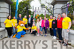 L-r Emer Kenny, Michelle Reidy, Frank Hartnett, Parky Bear, Martin Brosnan, Mayor Of Tralee Jim Finucane, Richard O'Halloran, Emily Brosnan, Molly Brosnan, Georgina Maher from Arty Bits, James Finnergan, Ava Healy, John Drummey and Bryan Carr at the official opening of the new Tralee Town park Gates and start Feile na mBlath Park Festival on Saturday