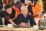 Michael Douglas at the China Film Makers Forum on the sidelines of the World Celebrity Pro-Am 2016 Mission Hills China Golf Tournament on 21 October 2016, in Haikou, China. Photo by Marcio Machado / Power Sport Images