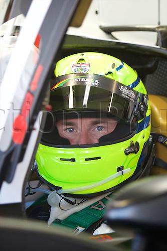 28.03.2015.  Le Castellet, France. World Endurance Championship Prologue Day 2. Strakka Racing Morgan driver Danny Watts sits in his car.