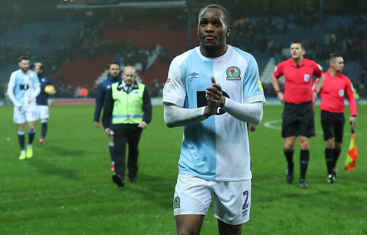 Blackburn Rovers' Ryan Nyambe at the end of todays match<br /> <br /> Photographer Rachel Holborn/CameraSport<br /> <br /> The EFL Sky Bet Championship - Blackburn Rovers v Sheffield Wednesday - Saturday 1st December 2018 - Ewood Park - Blackburn<br /> <br /> World Copyright &copy; 2018 CameraSport. All rights reserved. 43 Linden Ave. Countesthorpe. Leicester. England. LE8 5PG - Tel: +44 (0) 116 277 4147 - admin@camerasport.com - www.camerasport.com