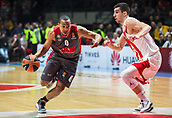 9th February 2018, Aleksandar Nikolic Hall, Belgrade, Serbia; Euroleague Basketball, Crvenz Zvezda mts Belgrade versus AX Armani Exchange Olimpia Milan; Guard Andrew Goudelock of AX Armani Exchange Olimpia Milan in action against Guard Ognjen Dobric of Crvena Zvezda mts Belgrade
