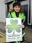 Mary Duff, Grand Marshal of the St Patrick's day parade. Photo:Colin Bell/pressphotos.ie