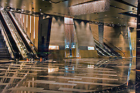 Escalators, lobby, Aria Resort & Casino, CityCenter, Las Vegas, Nevada, USA Hospitality