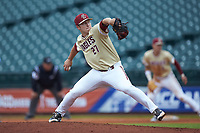 Boston College Eagles relief pitcher Brian Rapp (27) in action against the North Carolina Tar Heels in Game Five of the 2017 ACC Baseball Championship at Louisville Slugger Field on May 25, 2017 in Louisville, Kentucky. The Tar Heels defeated the Eagles 10-0 in a game called after 7 innings by the Mercy Rule. (Brian Westerholt/Four Seam Images)