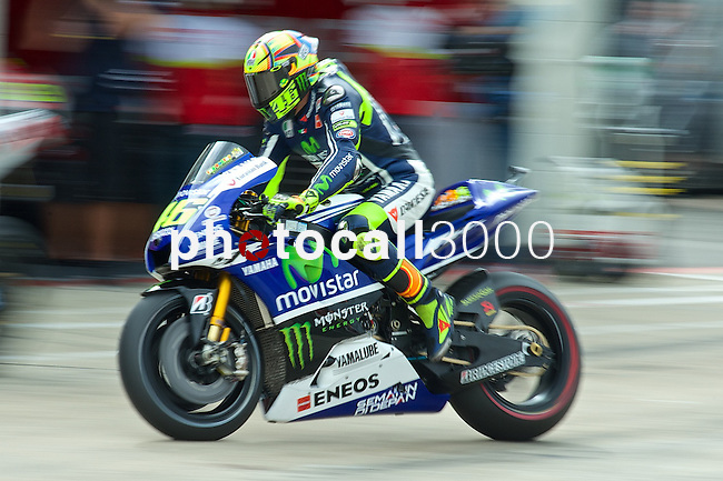 hertz british grand prix during the world championship 2014.<br /> Silverstone, england<br /> August 28, 2014. <br /> FP MotoGP<br /> Box<br /> valentino rossi<br /> PHOTOCALL3000/ RME