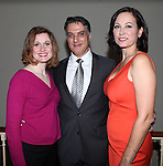 Backstage with Christiane Noll, Robert Cuccioli and Linda Eder after performing in 'A New Life' at The Town Hall on October 13, 2012 in New York City.