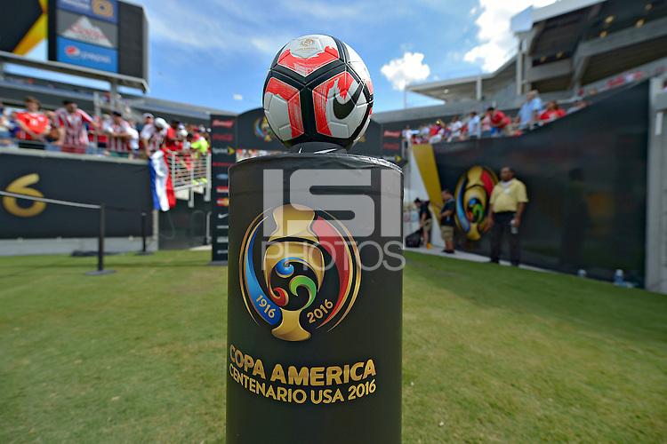 Action photo during the match Costa Rica vs Paraguay, Corresponding Group -A- America Cup Centenary 2016, at Citrus Bowl Stadium<br /> <br /> Foto de accion durante el partido Estados Unidos vs Colombia, Correspondiante al Grupo -A-  de la Copa America Centenario USA 2016 en el Estadio Citrus Bowl, en la foto: Balon Oficial<br /> <br /> <br /> 04/06/2016/MEXSPORT/Isaac Ortiz.
