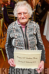 Mary O'Riordan from Abbeyfeale celebrating her 100th birthday in the Listowel Arms Hotel on Sunday.