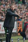 15.04.2018, Weser Stadion, Bremen, GER, 1.FBL, Werder Bremen vs RB Leibzig, im Bild<br /> <br /> Florian Kohfeldt (Trainer SV Werder Bremen)<br /> Gestik, Mimik,<br /> <br /> Foto &copy; nordphoto / Kokenge