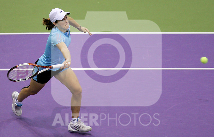 Belgium's Justin Henin-Hardenne during her WTA Madrid Masters Series Tennis match against France's Amelie Mauresmo at Madrid Arena, Friday 10 November, 2006. (ALTERPHOTOS/Alvaro Hernandez).