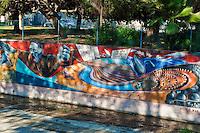 """World War II""  ""California Aqueduct"" Great Wall Mural, Los Angeles, CA, Tujunga Wash, Sub Watershed, San Fernando Valley, Los Angeles, CA"