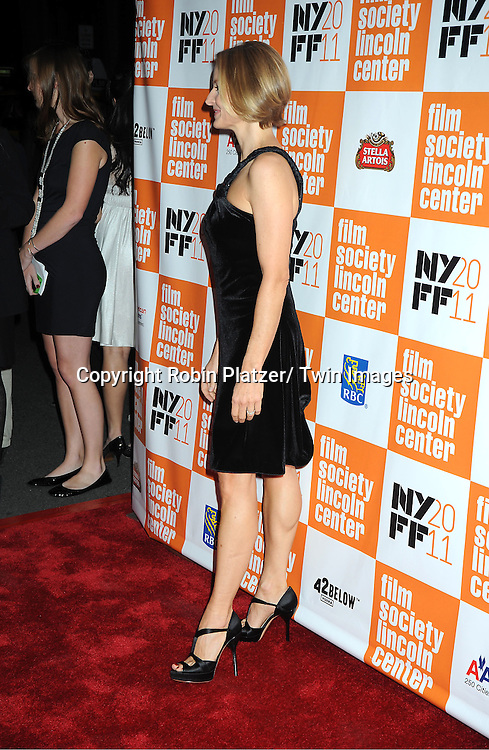 """actress Jodie Foster attends the 49th Annual New York Film Festival Opening Night Gala presentation of """"Carnage"""" on September 30, 2011 at Alice Tully Hall in New York City."""