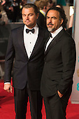 London, UK. 14 February 2016. Actor Leonardo DiCaprio with Director Alejandro Iñárritu. Red carpet arrivals for the 69th EE British Academy Film Awards, BAFTAs, at the Royal Opera House. © Vibrant Pictures/Alamy Live News