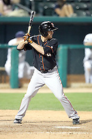 Tyler Graham #6 of the Fresno Grizzlies plays in a Pacific Coast League game against the Tucson Padres at Kino Stadium on April 20, 2011  in Tucson, Arizona. .Photo by:  Bill Mitchell/Four Seam Images.