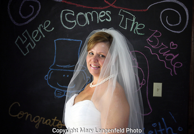 Colleen Halverson poses before her wedding.