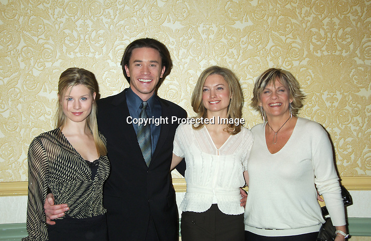 Stephanie Gatschet, Tom Pelphrey, Nicole Forester and Kim Zimmer ..at The New York Women in Film and Televison 25th Annual ..Muse Awards luncheon on December 13, 2005 at The New York Hilton Hotel. ..Photo by Robin Platzer, Twin Images